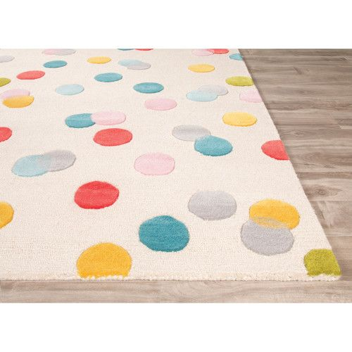 Playroom Rug | Jaipur Living Playful Hand-Tufted Ivory/Blue Area Rug