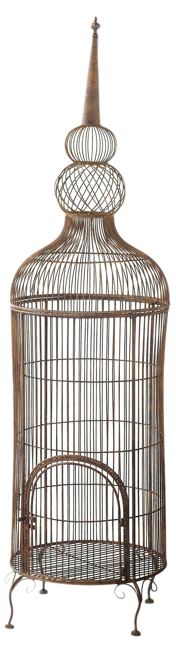 "74"" Standing Birdcage, Bronze | An Enchanted Evening | One Kings Lane"