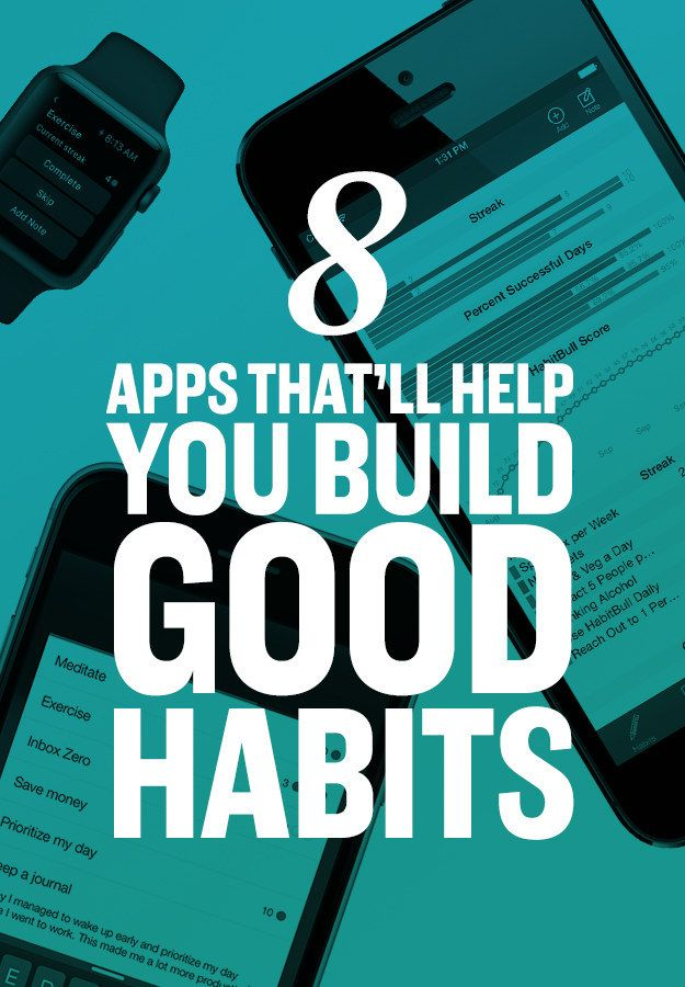 8 apps that will help you build good habits. Every college student should check these out!