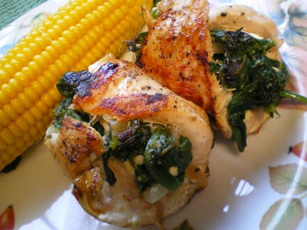 Spinach And Feta Stuffed Chicken Recipe - Greek.Food.com - 49414
