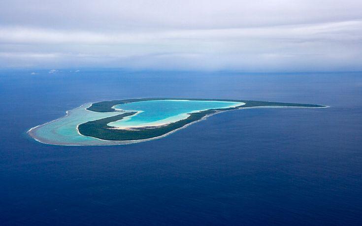 Tupai Island in French Polynesia