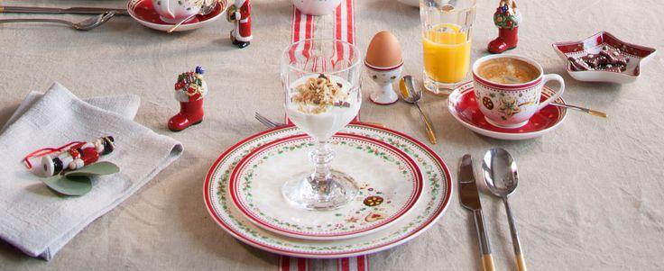 Weihnachtliches Frühstück mit Villeroy & Boch