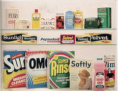 Unilever Product Range 1966 1 (glen.h) Tags: food sunlight streets vintage 60s surf pears continental 1960s deb rosella groceries lux sixtie...