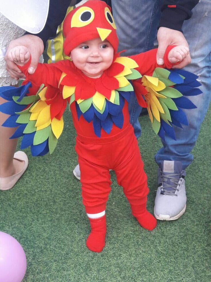 תחפושת תוכי לתינוק Parrot costume