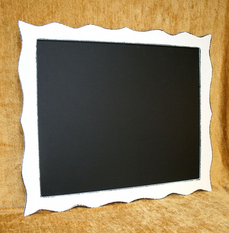 """Chalkboard Picture Frame Whimsical Package 16x16 or 16x20 in our """"Whimsical Expressions"""" Choose from 3 styles and 63 colors. $89.00, via Etsy."""