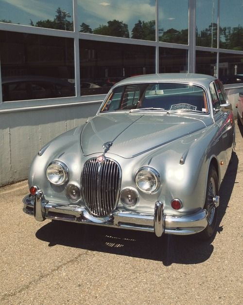Passed down from my dad, this model Jaguar 3.8 Mk 2 (mine in pale gray), was my first car...and, Stupid Girl, all I wanted at the time was a Mustang!!!--CH