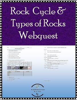 Webquest that explores the rock cycle. Includes: Rock ...