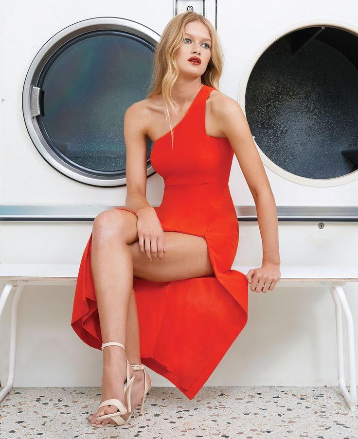 Kendall Asym Dress - Bardot