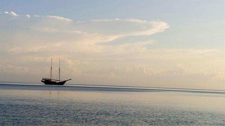 Sunset at moyo island sumbawa view from my room