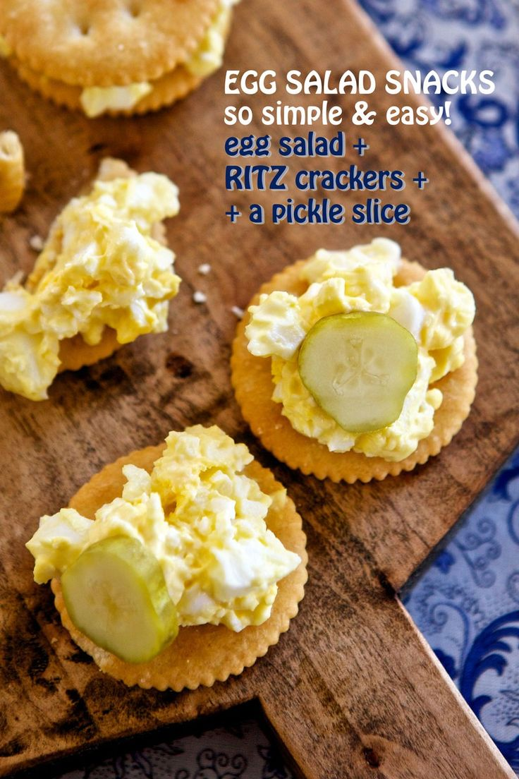 Egg Salad + Ritz Crackers + A Pickle Slice | Ritz Fresh Stacks Crackers