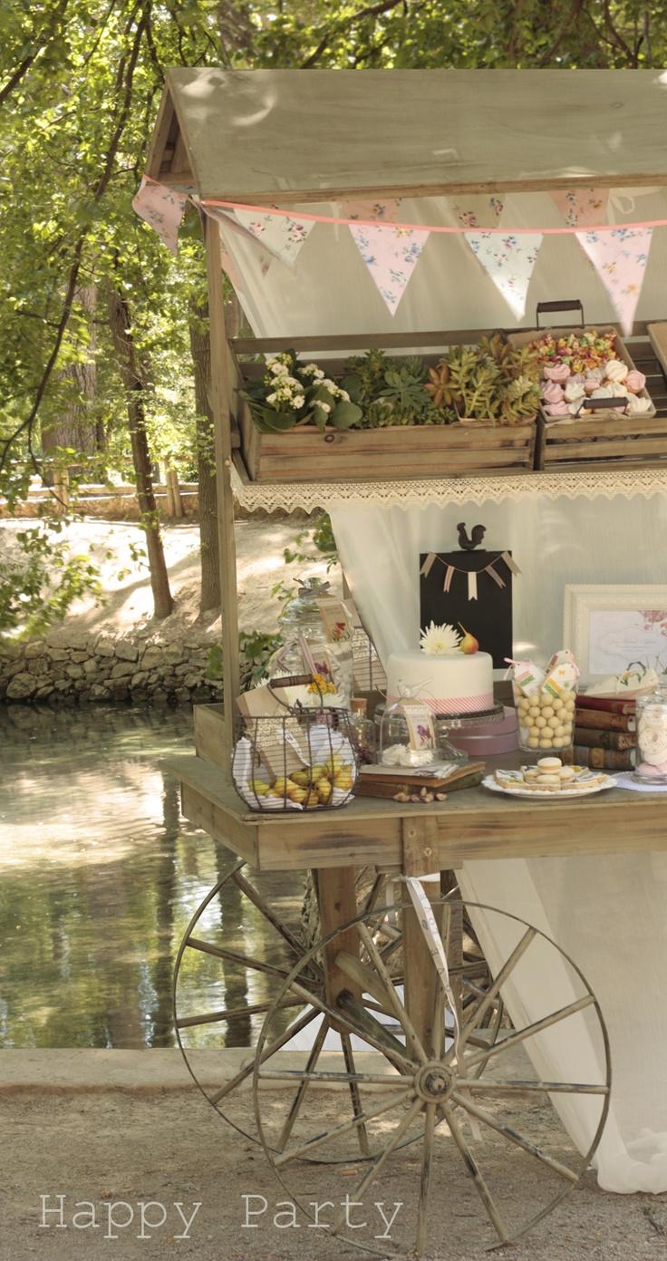 "Happy Party: Buffet Dulce ""Un carro Romántico"""