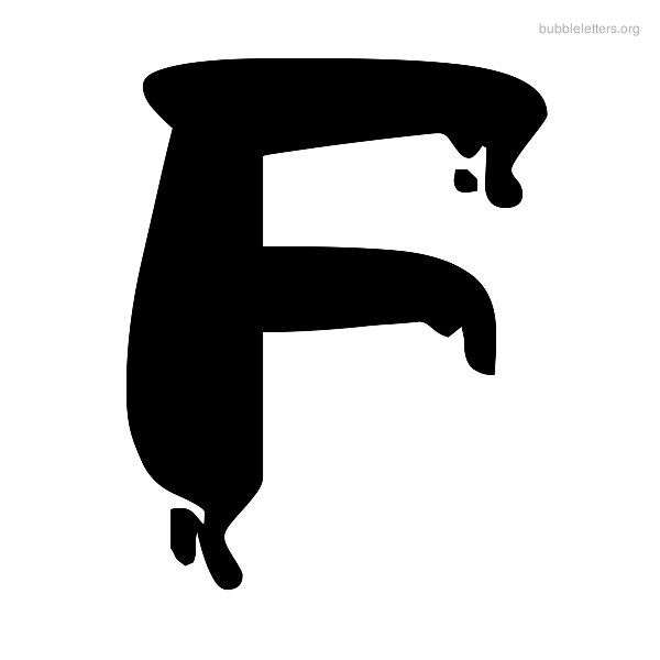 F | Bubble Letter F View Bubble Letters F