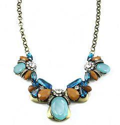 Natural Rhinestone Brand Necklace