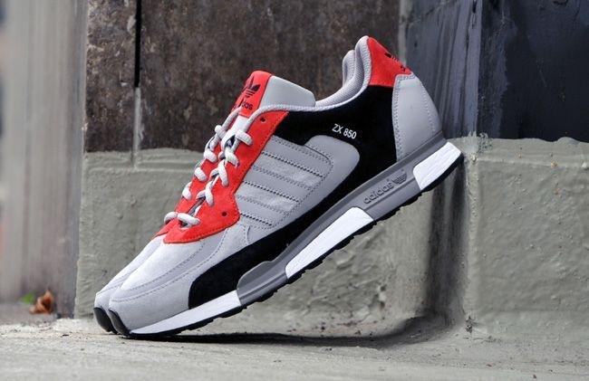 adidas Originals ZX 850: Black/Grey/Red