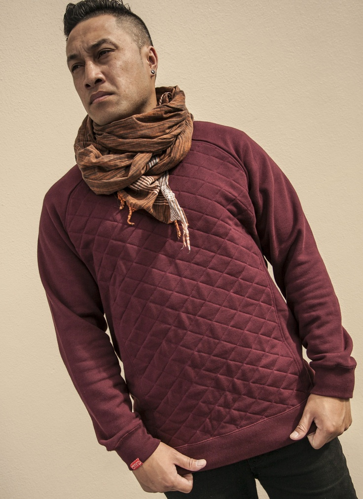 Maroon Quilted Sweat
