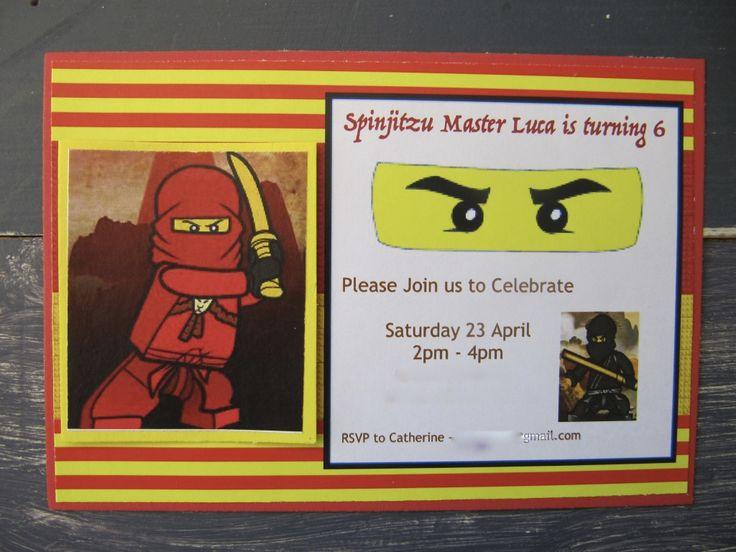 Handmade Ninjago Party Invitation