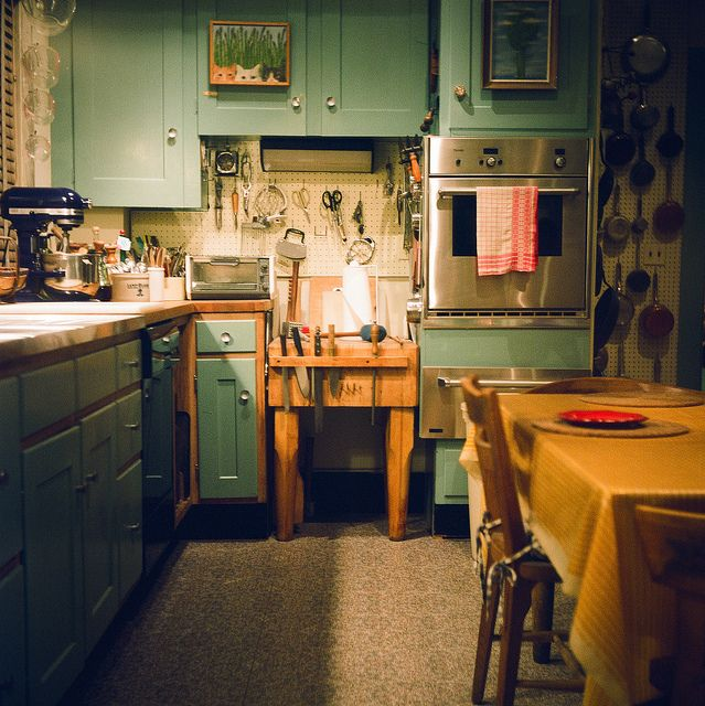 julia child's kitchen I desperately want peg boards for my kitchen now....