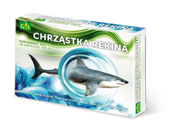 CHRZĄSTKA REKINA naturalnie występujące w chrząstce rekina, wapń i fosfor, przyczyniają się do utrzymania prawidłowej budowy kości i zębów oraz przebiegu metabolizmu energetycznego. Siarczan glukozaminy wraz z siarczanem chondroityny pomagają utrzymać zdrowe i elastyczne stawy. Preparat zalecany jest osobom starszym, szczególnie kobietom po menopauzie. http://www.gal.com.pl/produkty/suplementy-diety/chrzastka-rekina.html