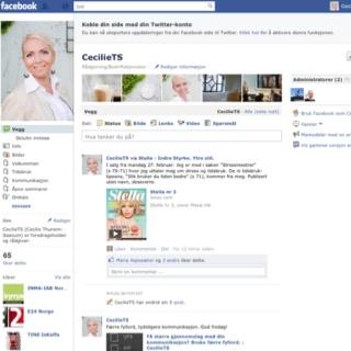 Helt ny FB-side: www.facebook.com/CecilieTS.no Velkommen!