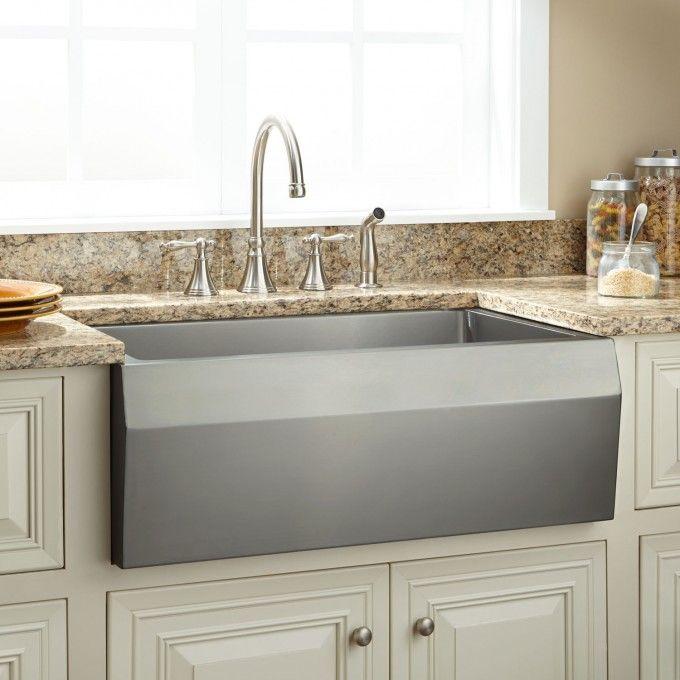 30 Optimum Stainless Steel Farmhouse Sink Angled Apron Evier