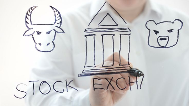 Illustration on stock exchange.   #animal #background #bank #banking #beast #bull #business #chart #commerce #concept #cow #datum #diagram #dollar #economic #economy #exchange #face #finance #financial #gold #graph #growth #icon #income #investment #market #money #price #profit #progress #rate #red #report #sign #silhouette #stock #street #symbol #trade #trader #trend #glass #marker #board #coins #design