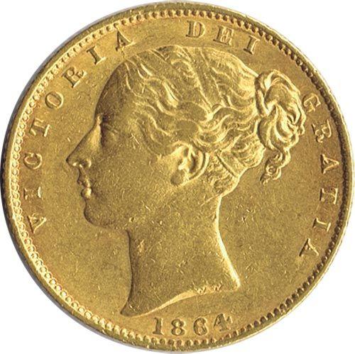 Moneda de oro Libra esterlina. Victoria. Gran Bretaña.