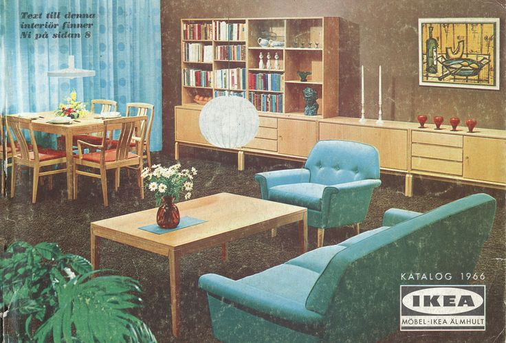 Ikea catalogues covers from 1951-2015
