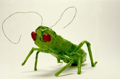 Have been thinking of getting into papier mache with Leah... These bugs are adorable!