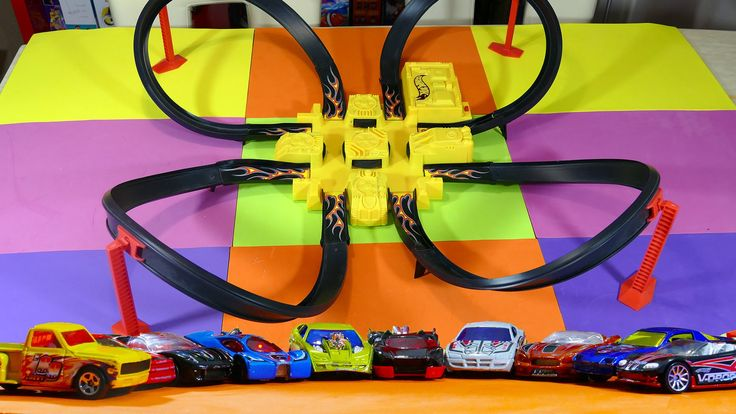 Criss Cross Crash!! Mega Hot Wheels Set from 2006 - Kid Toys Are Fun