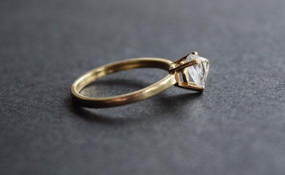 Taille 7 14 k or diamant bague bague de fiançailles par Avello