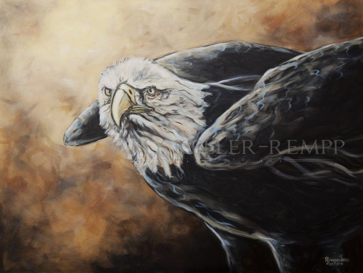 "Amy Keller-Rempp Art. ""Messenger"", 30"" by 36"", acrylic on canvas. Original still available, very popular in giclee prints and fine art cards."