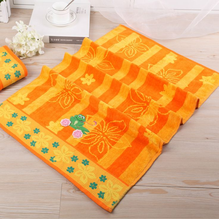 Cotton Terry Towel Embroidery Frog Pattern For Face Home Bathroom Outdoor Travel And Gift 50cmX90cm