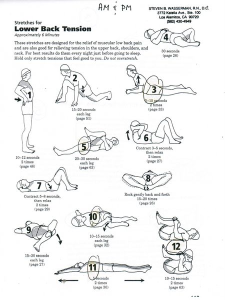 Lower Back Stretches...These help ease sciatic nerve pain.