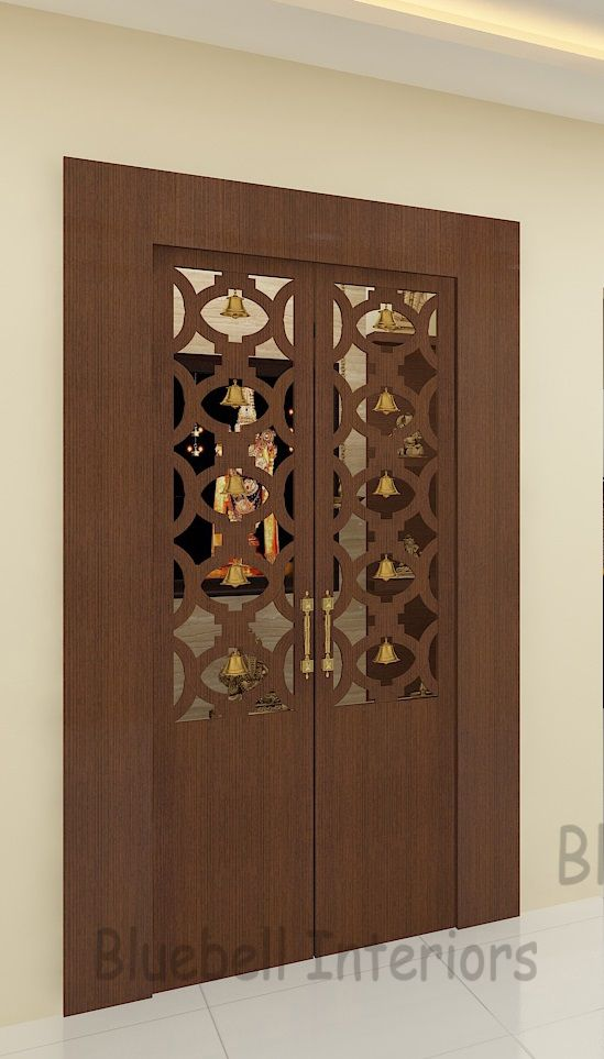 10 Pooja Room Door Designs That Beautify Your Mandir Entrance: Pin By Shipra Agarwal On Innovative Doors For Different