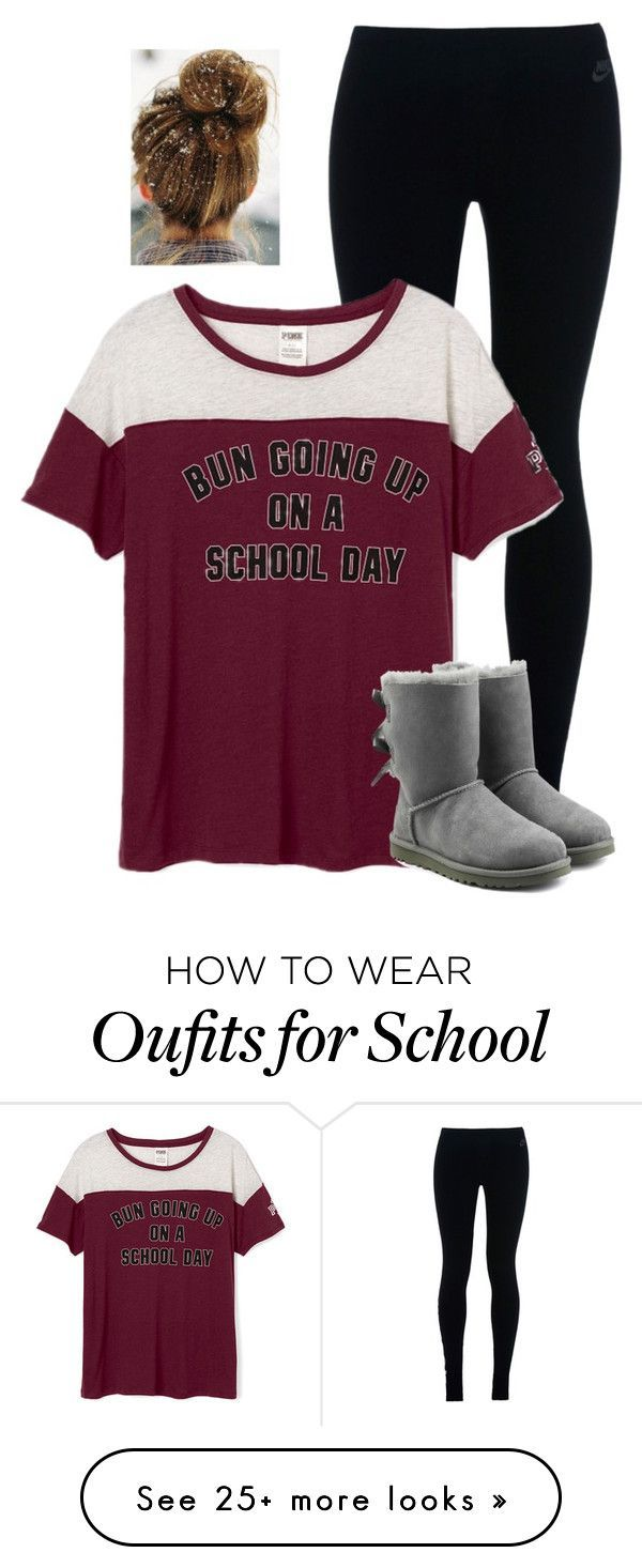 """""""Bun going up on a school day"""" by savanahe on Polyvore featuring NIKE and UGG Australia"""