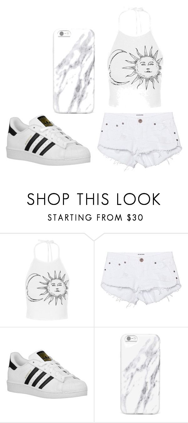 Casual by isabellamateus on Polyvore featuring One Teaspoon and adidas Originals