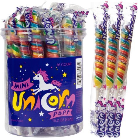 Mini Unicorn Pops - 36ct Tub - Party City