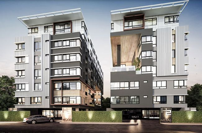 Condo low rise new modern loft design condominium for Modern condo building design