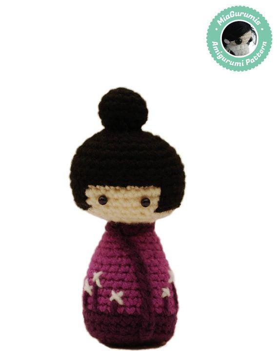 Amigurumi Japanese Doll : 17 Best images about Amigurumi Kokeshi on Pinterest ...