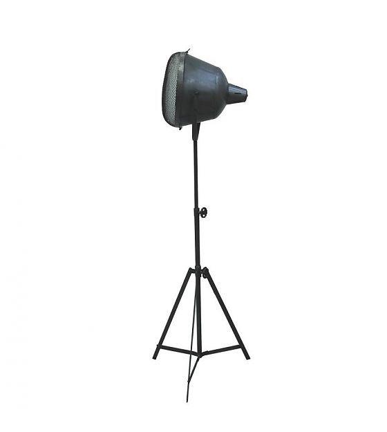 LEF collections Industriële vloerlamp Gaas zilver metaal 35x37x135-205cm - wonenmetlef.nl