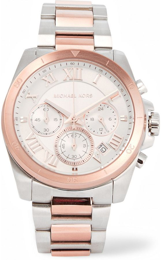 Michael Kors Watches Brecken silver and rose gold-tone watch http://www.thesterlingsilver.com/product/bering-womens-26mm-steel-bracelet-case-sapphire-crystal-solar-white-dial-analog-watch-14426-001/