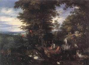 Adam and Eve in the Garden of Eden 1610s  Jan The Elder Brueghel