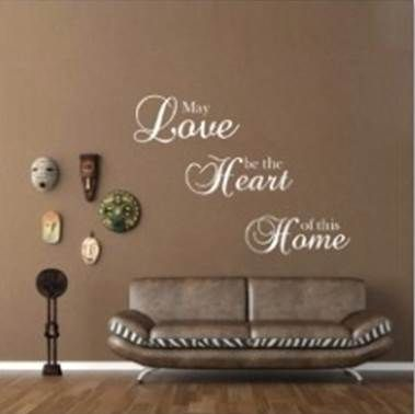 May Love be the Heart of the Home wall sticker. www.theprettycollection.co.za