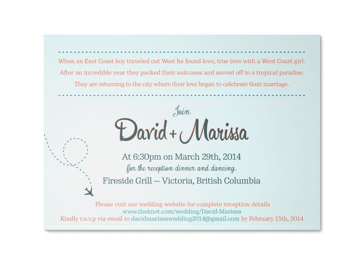 Destination Wedding Invitation back