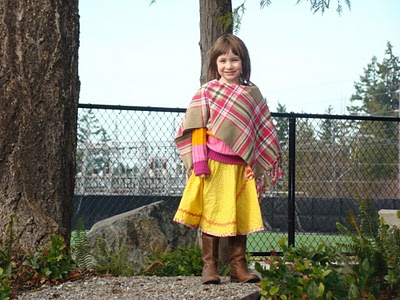I made this skirt for Imogen from Simplicity pattern 2356 and Jo-Ann fabrics. She picked them out herself.