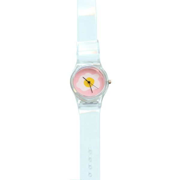 Transparent egg watch ($12) ❤ liked on Polyvore featuring jewelry, watches, accessories, see through watches and transparent watches