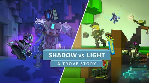 This video will tell you the storyline go to http://www.trionworlds.com/trove/ to watch it or for more details