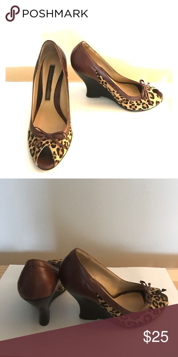 Animal print high heels Animal print size 7 Chinese Laundry. Well kept. Chinese Laundry Shoes Wedges