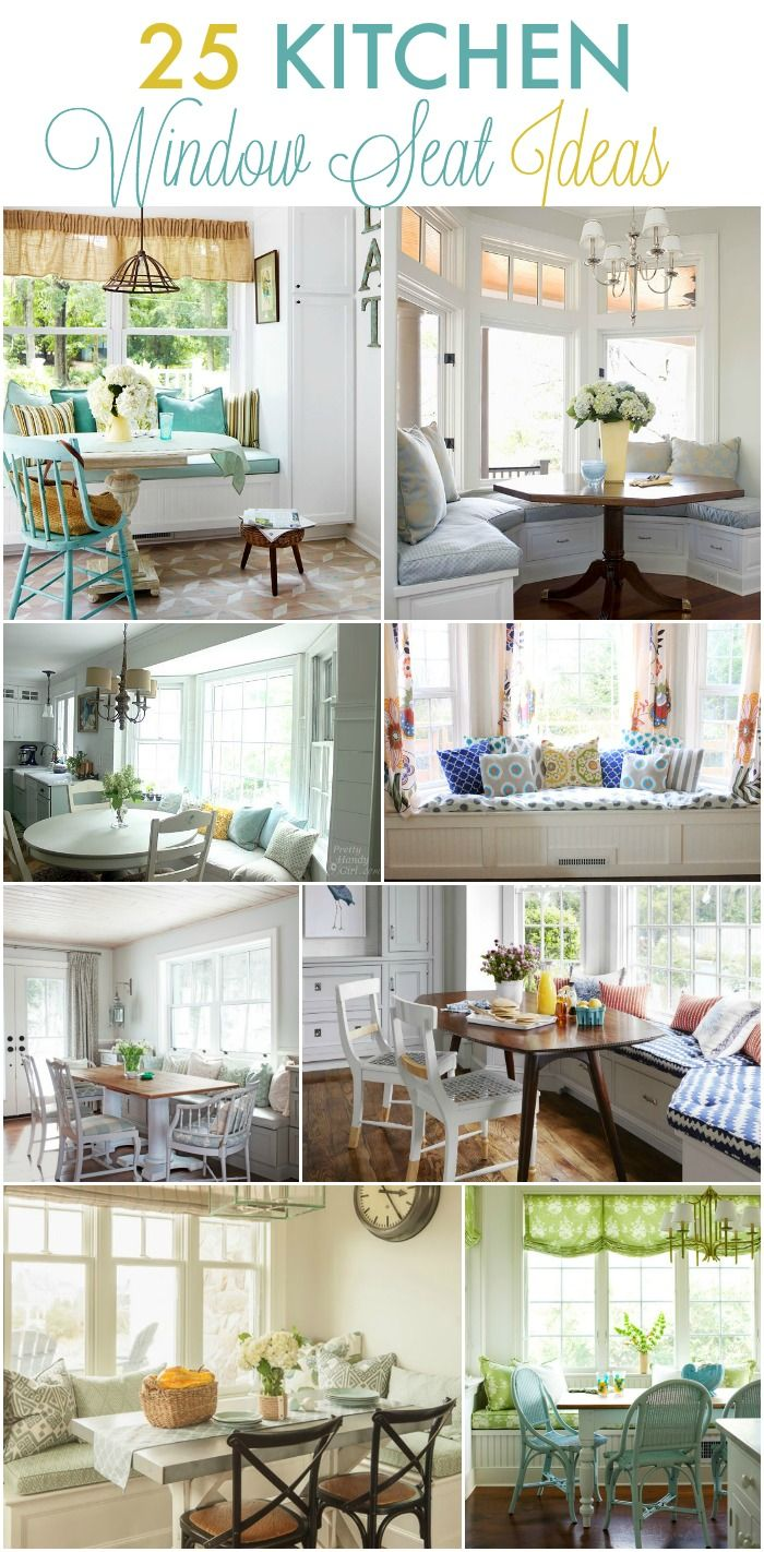 Beautiful window seat and kitchen banquette ideas.