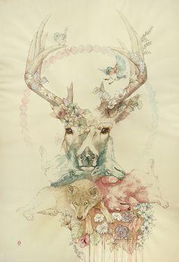 "Saatchi Online Artist Oriol Angrill Jordà; Painting, ""Campanella Wildlife"""